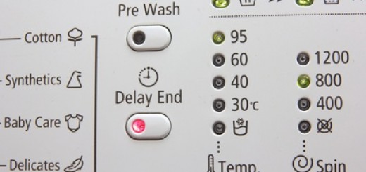 Washing machine pre-programmed settings and options